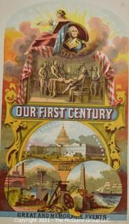 """Book: """"Our First Century: Great and Memorable Events""""; 1876"""