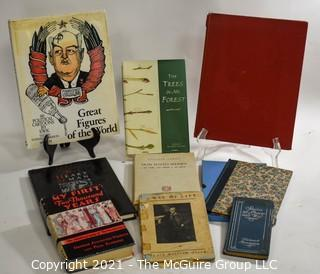 "Books: Collection of 9 books including ""Stories of War and Peace"" by Frederic Remington"