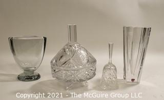 Group of Clear Glass Crystal items Including Orefors.