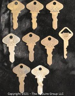 Collection of early FORD Motor Company Car Automobile Keys.