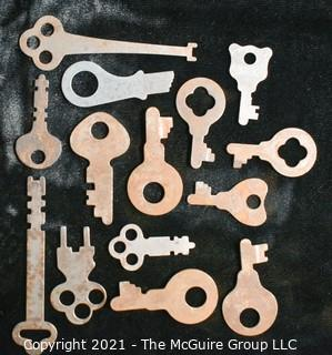 Collection of flat steel keys