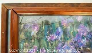 Pair (2) of Framed Under Glass Art Posters.  One had small crack in glass.