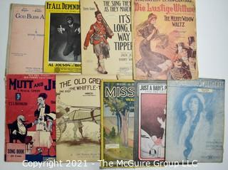 Collection of Antique Sheet Music.
