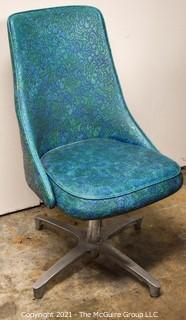 """MCM Swiveling Side Chair w/ Period Vinyl; wear appropriate to age; 34 1/2""""T"""