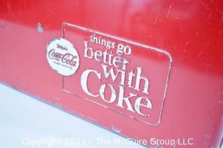 """Vintage Red Mid Century """"Things Go Better With Coke"""" Coca-Cola Ice Chest; 13D x 22W x 12 1/2""""T"""