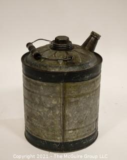 Mid-Century Oil Can, 1 Gallon with Handle and Spout.