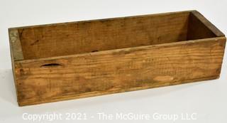 """Vintage Wooden Box; 6 x 18 x 4"""""""