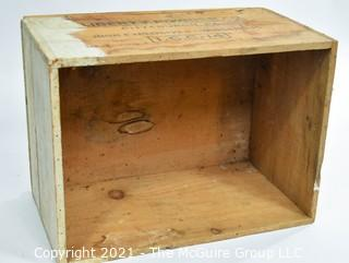 """Wooden Finger Jointed Box High Explosives Box Stenciled """"Liberty Powder Co."""", Pittsburg, PA; 11 x 13 x 18"""""""