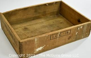 """Wooden finger jointed box explosives box; 13 x 18 x 4 1/2"""""""