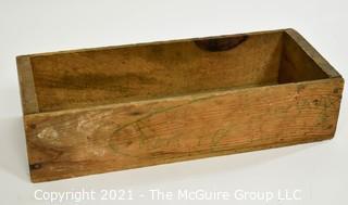 """Vintage Wooden Box; 7 x 18 x 4"""""""
