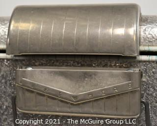 """Vintage Mid Century Ribben Aluminum Thermaster Cooler Ice Chest by Poloron; 13D x 22W x 16""""T"""