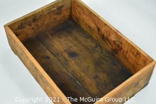 """Finger Jointed Vintage Wooden Box; 12 x 18 x 4""""T"""