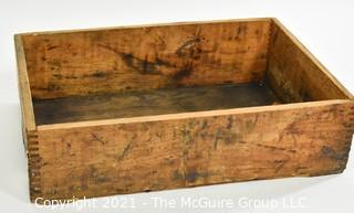 "Finger Jointed Vintage Wooden Box; 12 x 18 x 4""T"
