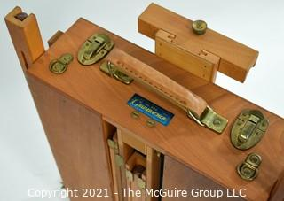 Vintage French Jullian Grumbacher 286 Portable Artist's Easel With Tin Lined Tray