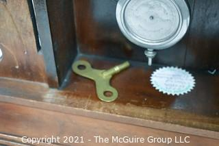 Antique Victorian Parlor Mantel Clock in Fretwork Wood Case, Waterbury Clock Co.