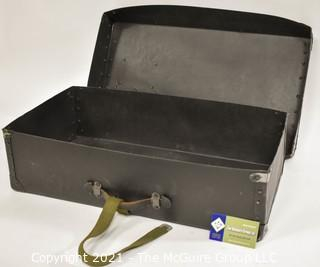 """Vintage Fiberglass Mailing or Shipping Box with Strap.  Measures approximately 6 x 13 x 23"""""""