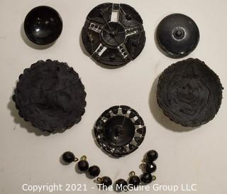 Set of Victorian Embellishments, Some Made from Hand Carved Jet.