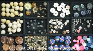 Collection of Vintage and Antique Buttons.