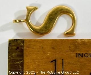 "14 kt Gold ""S"" Initial Charm or Pendant.  It weighs approximately 4.8 Gr."