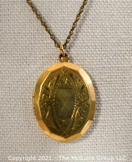 10 kt Gold Filled Locket Pendant on Chain.