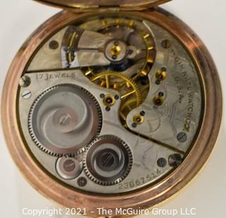 Gold Filled Elgin Pocket Watch; 17 Jewel Movement