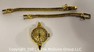 Omega Automatic De Ville Swiss Made Ladies Watch with 14kt Gold Band, Not Attached.  Watch Untested.  Band Weighs approximately 7.5 gr.