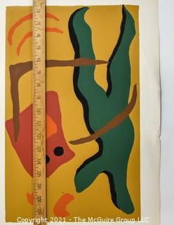 Abstract Water Color on Paper, Unsigned but Attributed to Sarah Isabella Rockwell Young (1930-2016) Berkeley Springs, WV