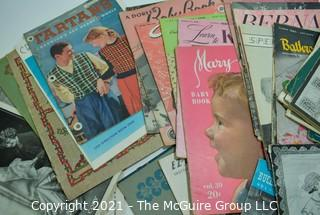 Large Lot of Vintage Sewing and Needlework Patterns.