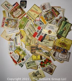 Collection of Vintage Wine Bottle Labels