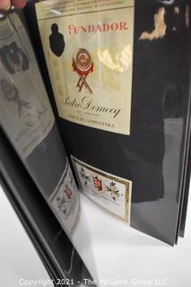 Two Folders With Vintage Wine Labels
