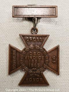 Civil War Confederate Veteran's commemorative medal UCV Southern Cross of Honor