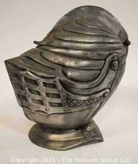 Vintage Medieval Style Knights Helmet Ice Bucket Bar Ware.