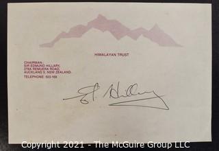 Collectible: Autograph: Sir Edmund Hillary