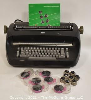 Vintage Black IBM Selectric Typewriter Additional Fonts & Ribbons