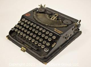 Antique 1920s Remington Portable Typewriter in Case, Working Condition.