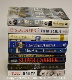 Books: Historical: Military: with dust jackets incl- Ike, MacArthur, Weinberger