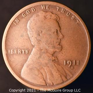 1911-S Lincoln Penny