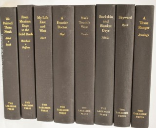 Selection of Lakeside Press books with early Western themes