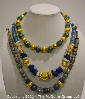 Group of Three (3) Beaded Necklaces