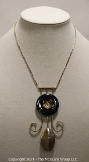 Vintage Costume Modern Art Jewelry Necklace.