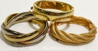 Three Costume Jewelry Bangle Bracelets.