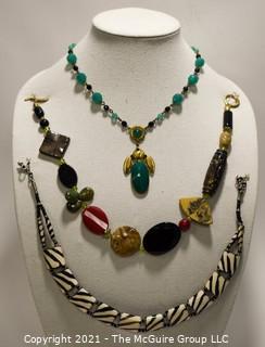 Three (3) Mixed Bead Necklaces.