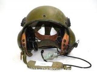 Vietnam Era Military Air Crew Helmet 1960's Used in Combat w/carry bag