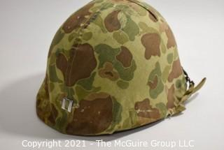 Collectible: Militaria: Vietnam Era: M1 Helmet w/ liner and camo covering - 1960's used in country by Captain