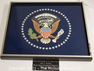 "Historical: Presidential Shield: ""Marine One"" Helicopter - President Kennedy Era 1962"