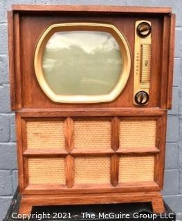 Vintage Mid Century Modern MCM Admiral TV Cabinet Console 26X37 CRT