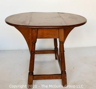 "Vintage Maple Drop-Leaf End Table.  Measures 28""W x 23""T  (12""W when closed)"