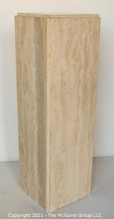 """Square Marble Pedestal or Stand. Measures 9 x 9 x 32""""T"""