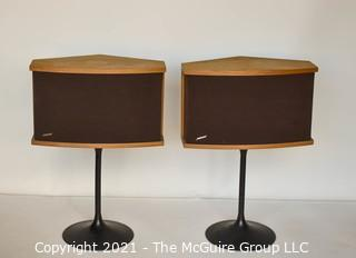 Electronic: Vintage: pair of BOSE 901 series VI pedestal speakers. Includes equalizer and paperwork.