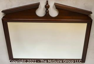 """Federal Style Wall Mirror with Finial.  Measures 45 x 39"""""""